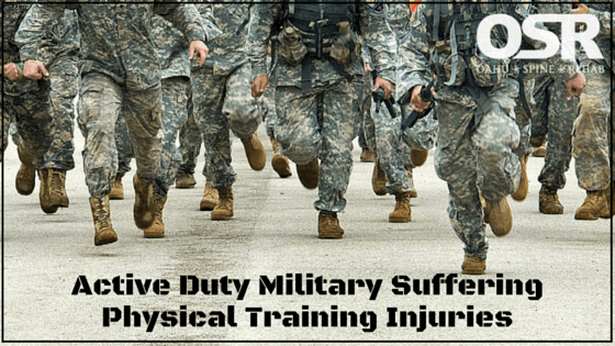 Active Duty Military Suffering Physical Training Injuries