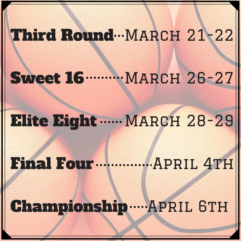 Third Round- March 21-22Sweet 16- March