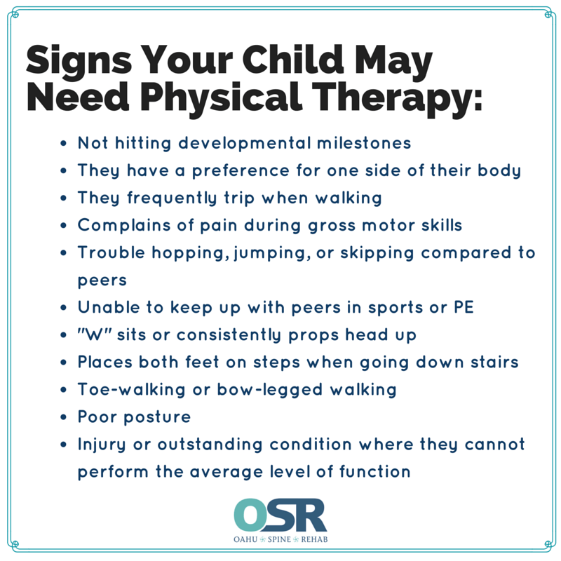 Physical therapy children oahu hawaii